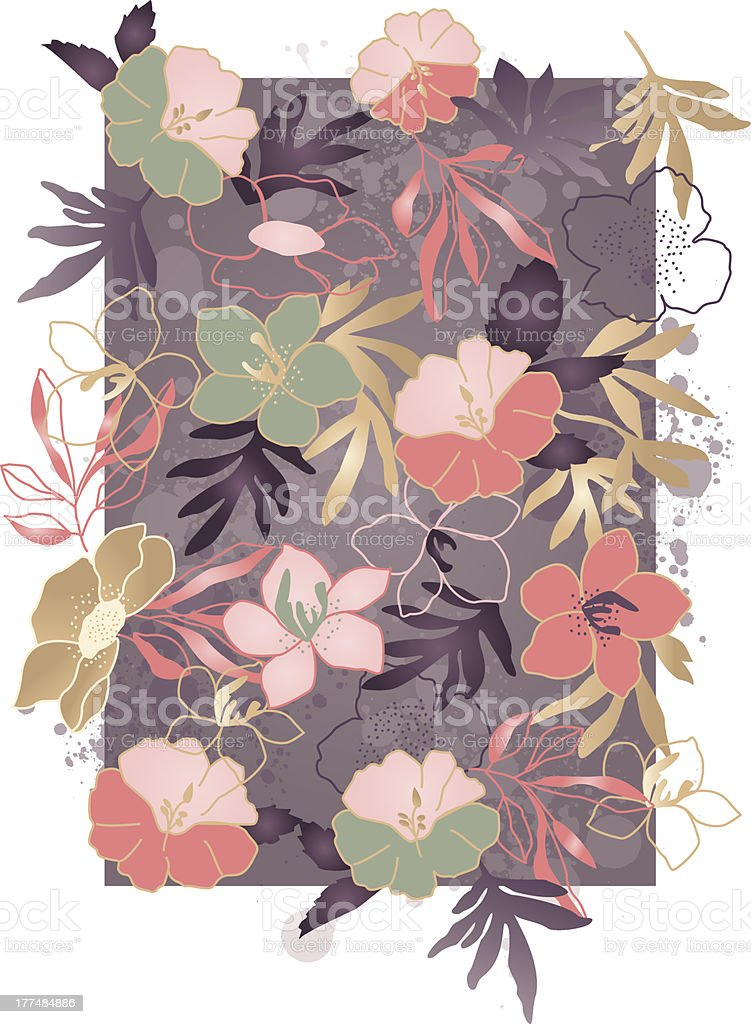 Hibiscus Tropical Print royalty-free hibiscus tropical print stock vector art & more images of fashion