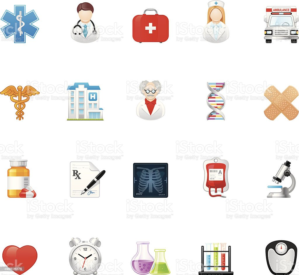Hico icons — Medicine vector art illustration