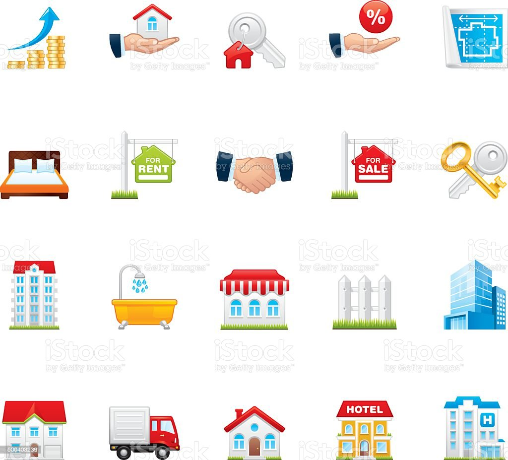 Hico icons — Real Estate vector art illustration