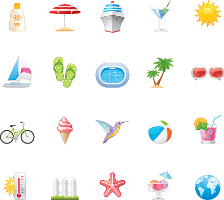 Hico icons — Summer Vacations