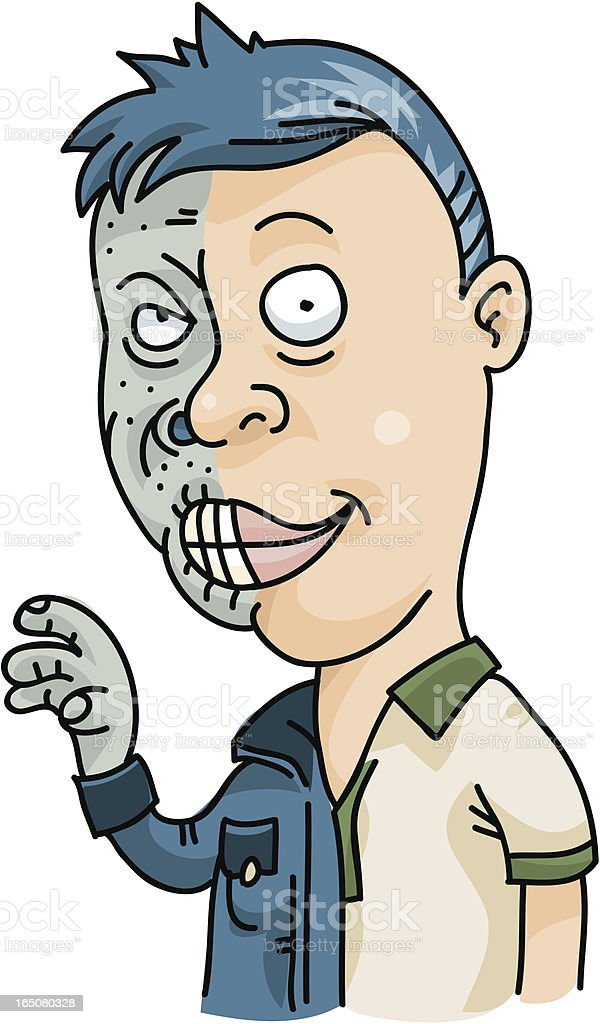 Hidden Monster vector art illustration