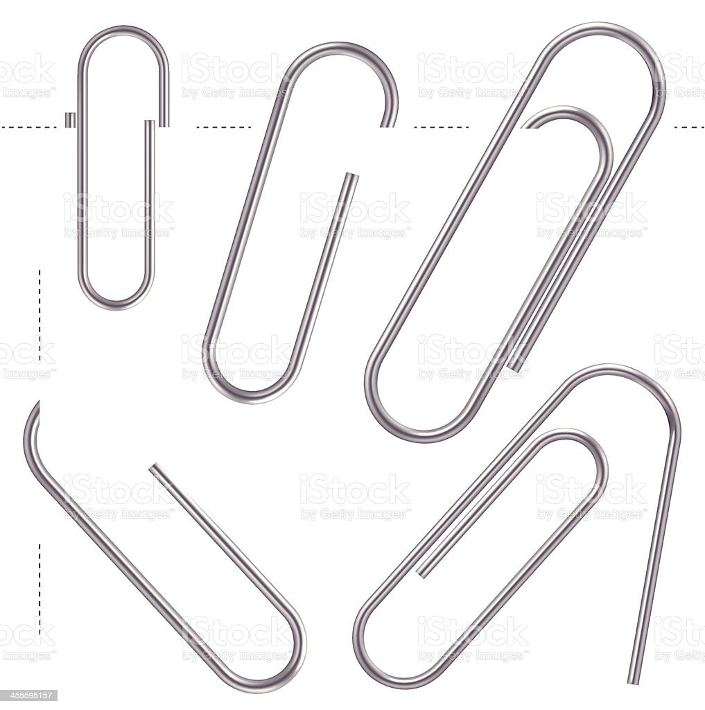 Hidden Paper Clips vector art illustration