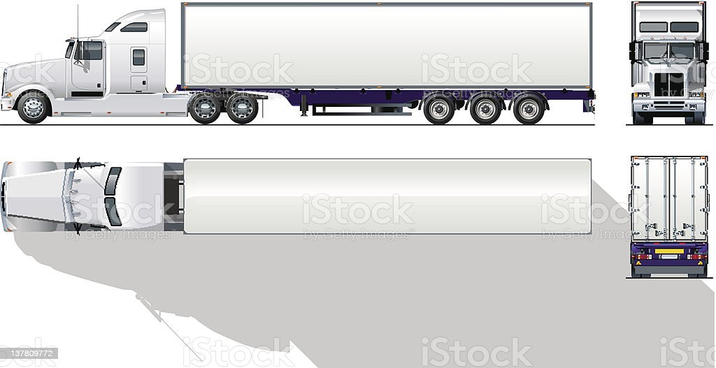 royalty free tractor trailer clip art vector images illustrations rh istockphoto com Tractor-Trailer Graphics tractor trailer tire clipart