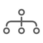 istock Hierarchy, site map icon / gray color 1261586468