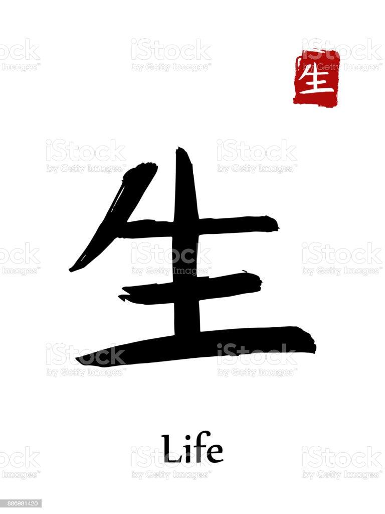 Hieroglyph chinese calligraphy translate life vector east asian hieroglyph chinese calligraphy translate life vector east asian symbols on white background hand biocorpaavc Gallery