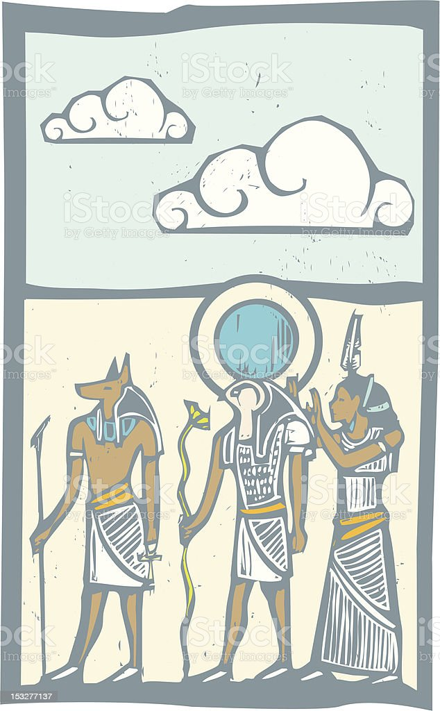 Hieroglyph Clouds royalty-free stock vector art