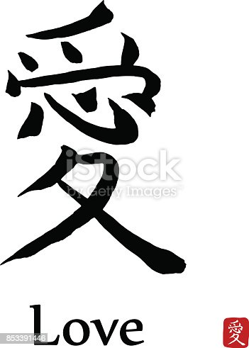 i love you in japanese letters hi 233 roglyphe japon traduire vecteur des symboles 22516