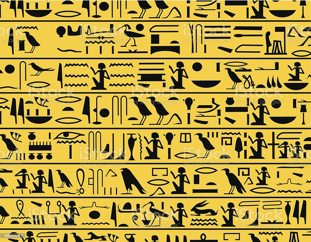Hieroglyphs vector art illustration