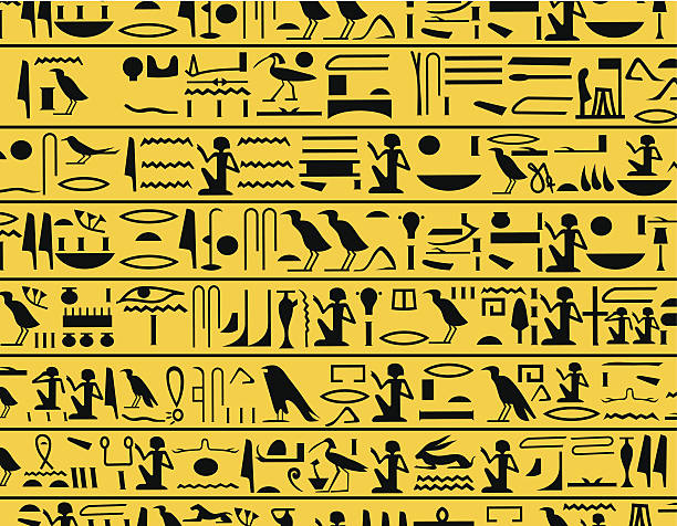 Hieroglyphs Hieroglyphs signs ancient egyptian culture stock illustrations