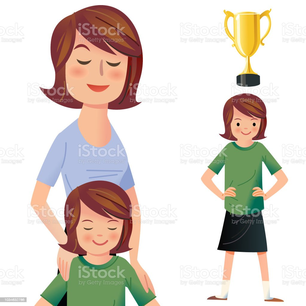 High Achiever vector art illustration