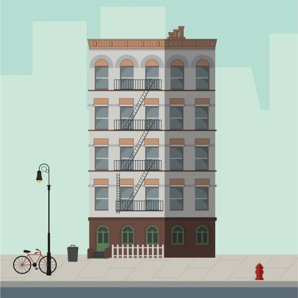 Best Apartment Finding Website: Best Fire Escape Illustrations, Royalty-Free Vector