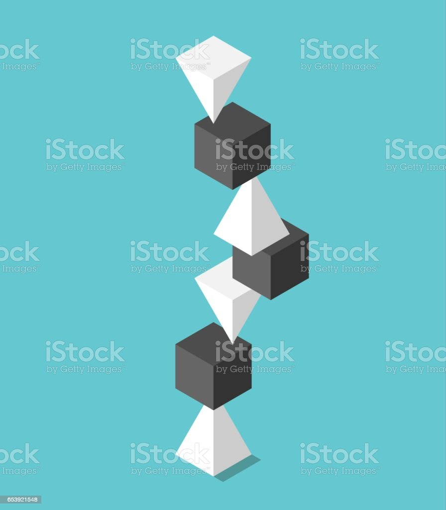 High balancing heap vector art illustration