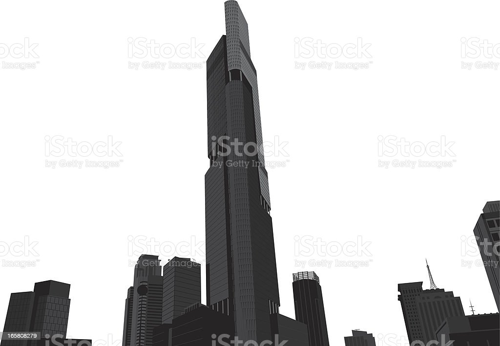 high buildings and large mansions royalty-free stock vector art