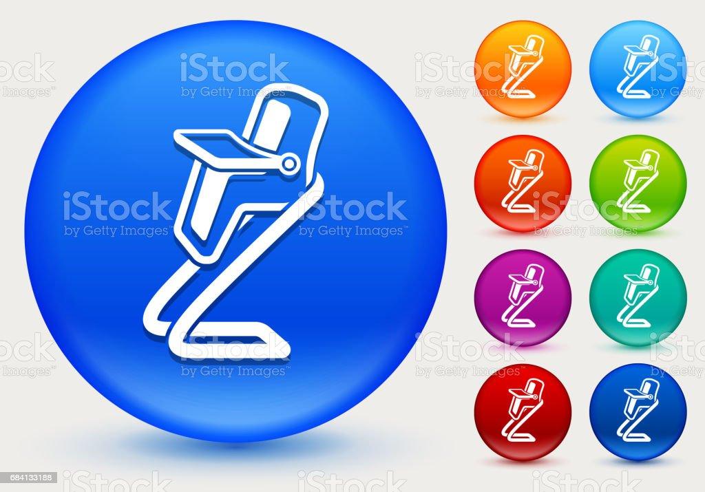 High Chair Icon on Shiny Color Circle Buttons high chair icon on shiny color circle buttons - immagini vettoriali stock e altre immagini di arancione royalty-free