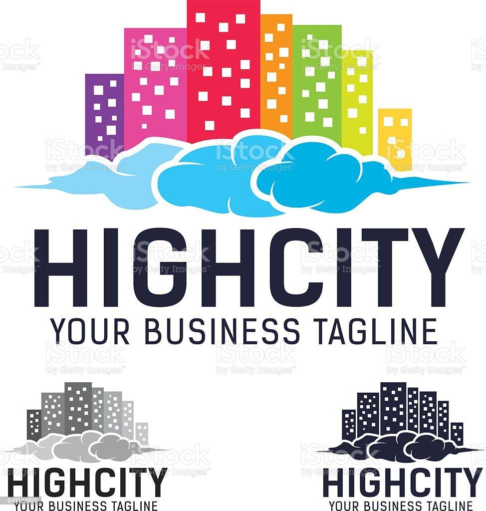 High City Vector Logo vector art illustration