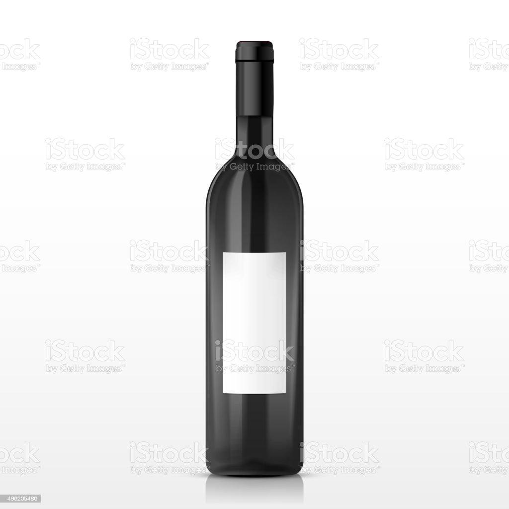 high class champagne bottle vector art illustration