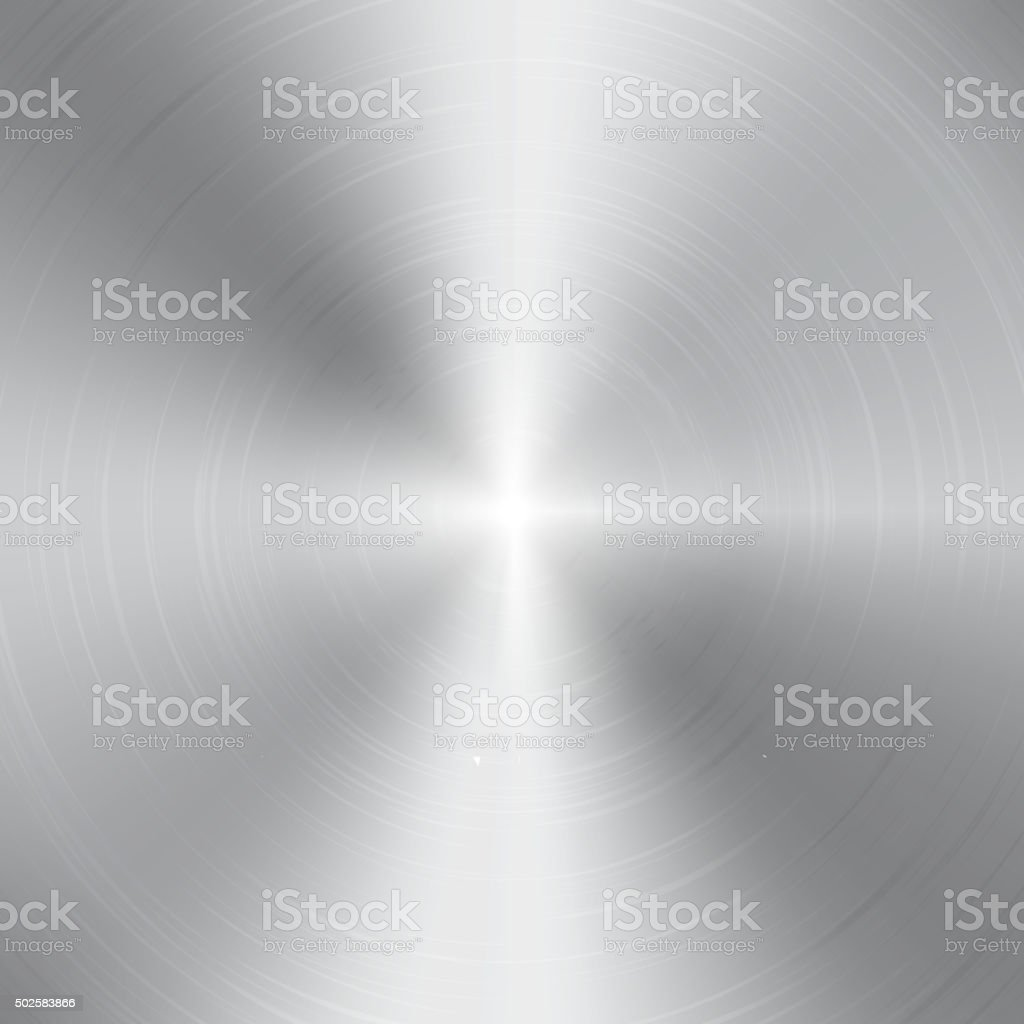 High contrast circular brushed aluminum texture vector art illustration
