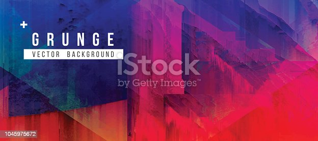 istock High Contrast Digital Glitch Abstract Grunge Background 1045975672
