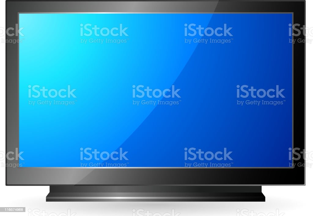High definition television royalty-free stock vector art