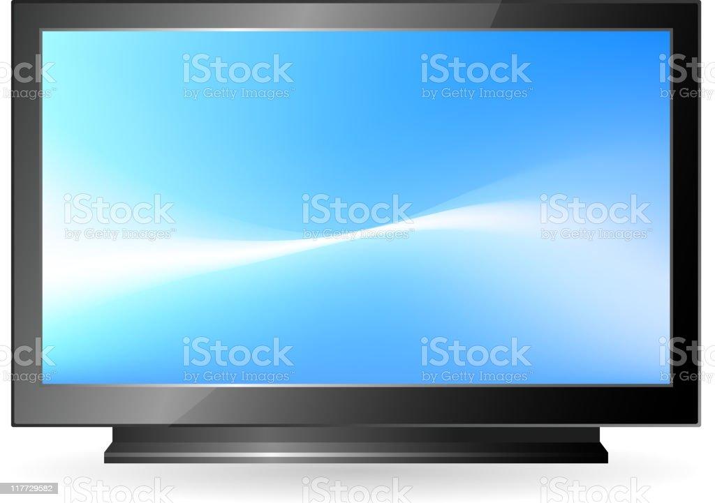 High definition television vector art illustration
