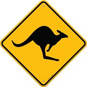 High Detail Kangaroo Sign