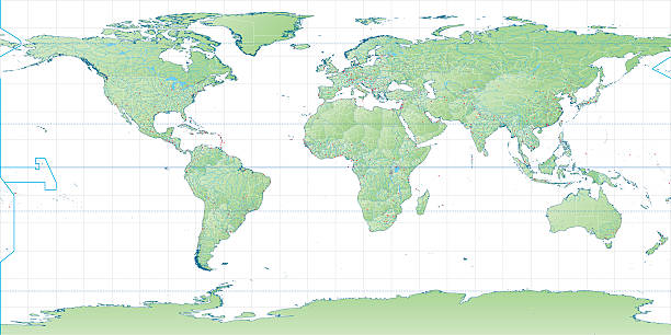 Royalty free equirectangular panorama clip art vector images high detail world map vector art illustration gumiabroncs Choice Image