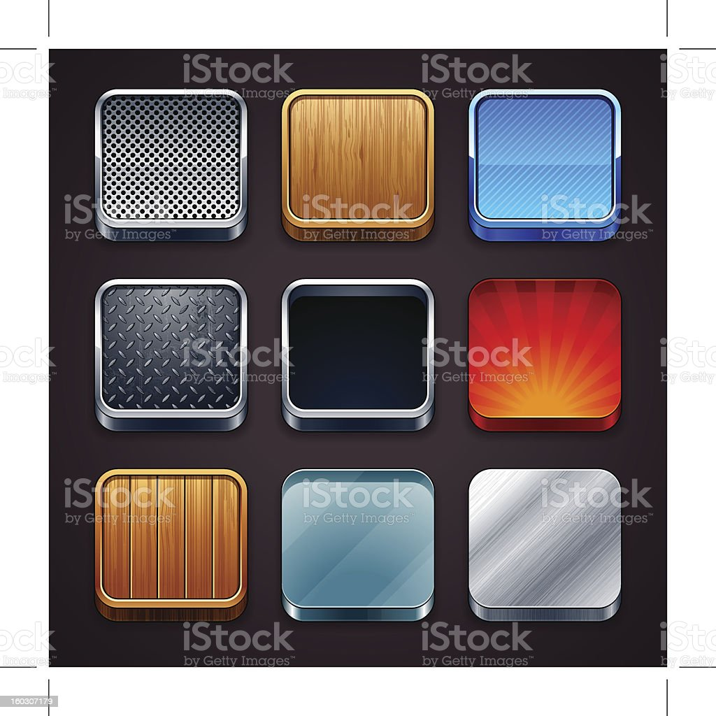 High detailed apps icons royalty-free stock vector art