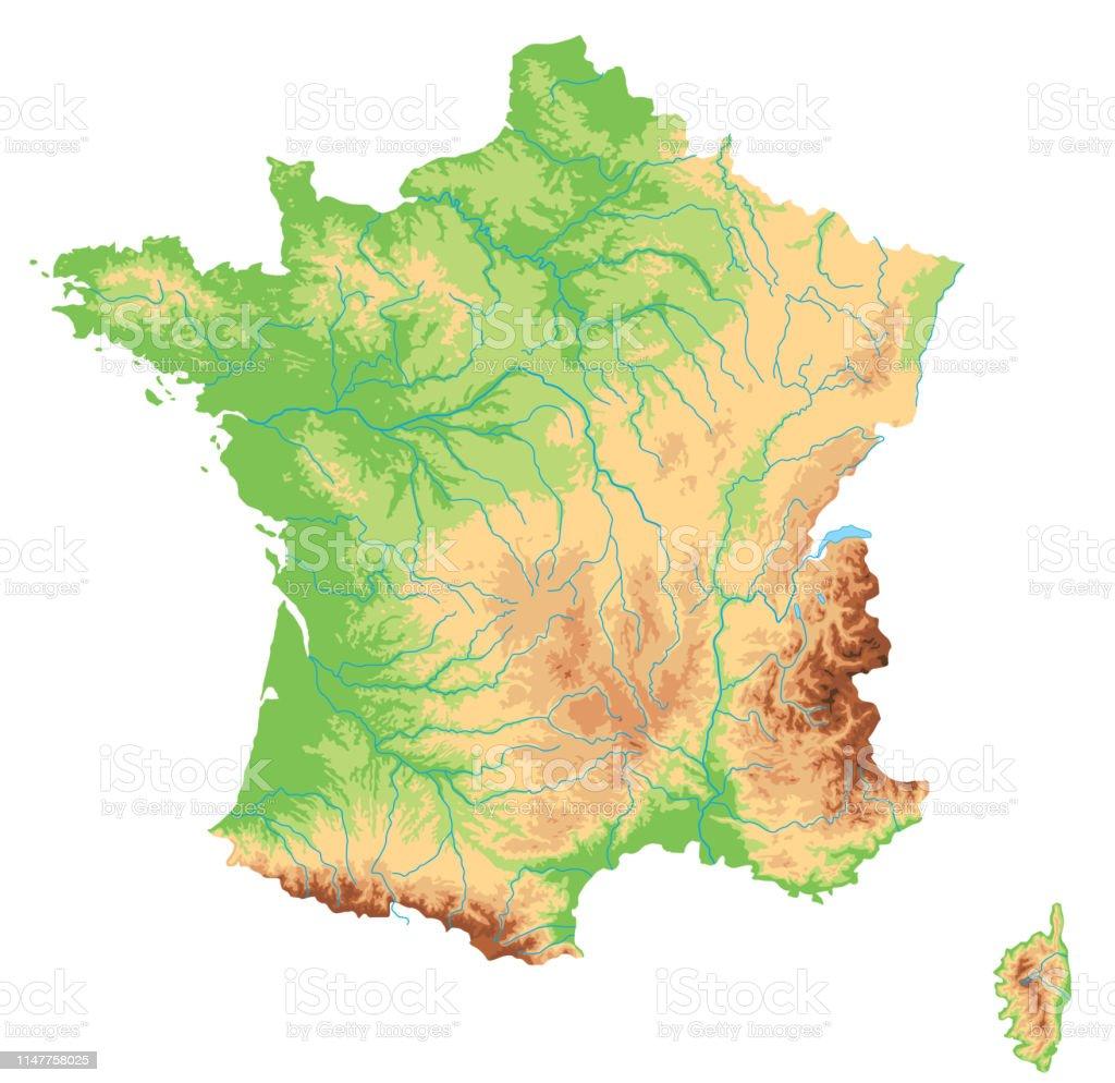Carte Physique Détaillée Haute France Vecteurs libres de ...