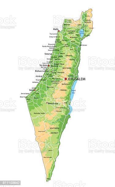 Cartina Geografica Di Israele.Alta Dettagliata Israele Fisica Mappa Con Letichettatura Immagini Vettoriali Stock E Altre Immagini Di Alpi Istock