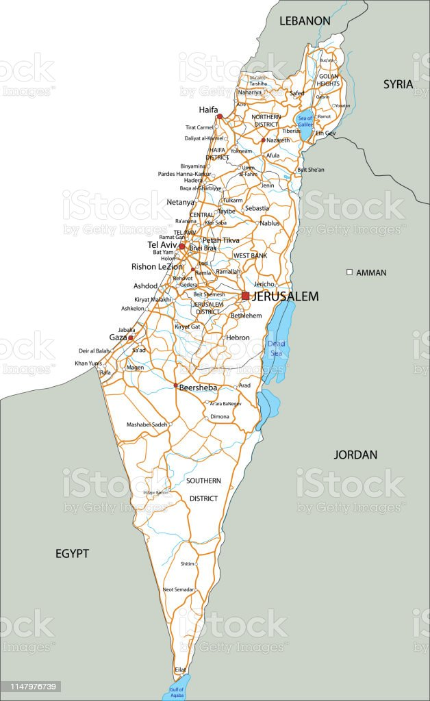 Road Map Of Israel