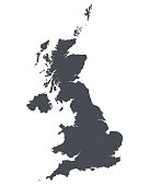 High detailed map of United Kingdom