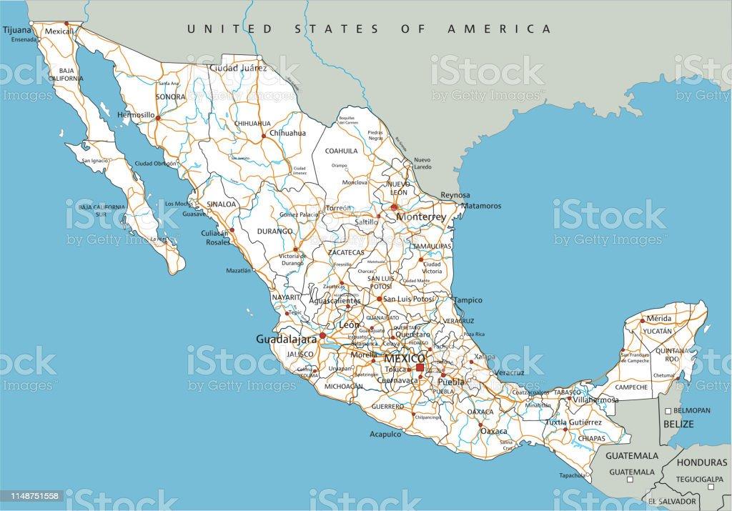 High Detailed Mexico Road Map With Labeling Stock ... on map of san cristobal de las casas, map of aventuras akumal mexico, map of valle de bravo, map of rio de janeiro, ciudad juarez mexico, weather ciudad de mexico, map of mexico city, map of estado de mexico, resource map mexico, hotel ciudad de mexico,