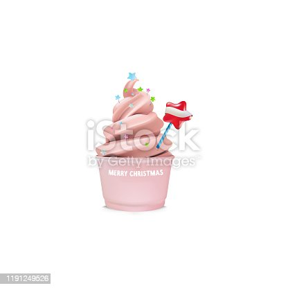 istock High detailed vector icecream with lots of decorations like Christmas tree, 1191249526