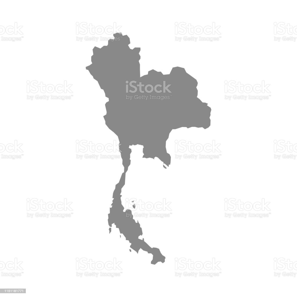 High Detailed Vector Map Thailand Stock Illustration ...
