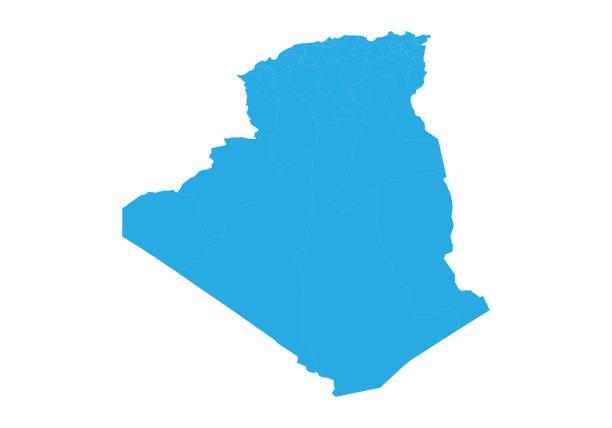 高詳細向量圖 - 阿爾及利亞 幅插畫檔、美工圖案、卡通及圖標