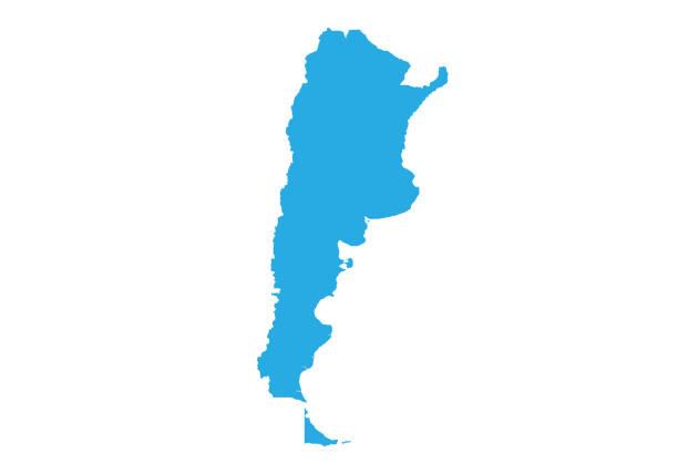 illustrations, cliparts, dessins animés et icônes de carte vectorielle détaillée haute - argentine