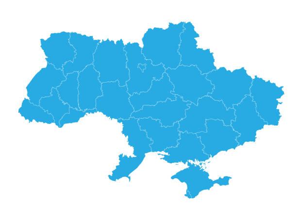 高詳細なベクトル地図 - ウクライナ点のイラスト素材/クリップアート素材/マンガ素材/アイコン素材