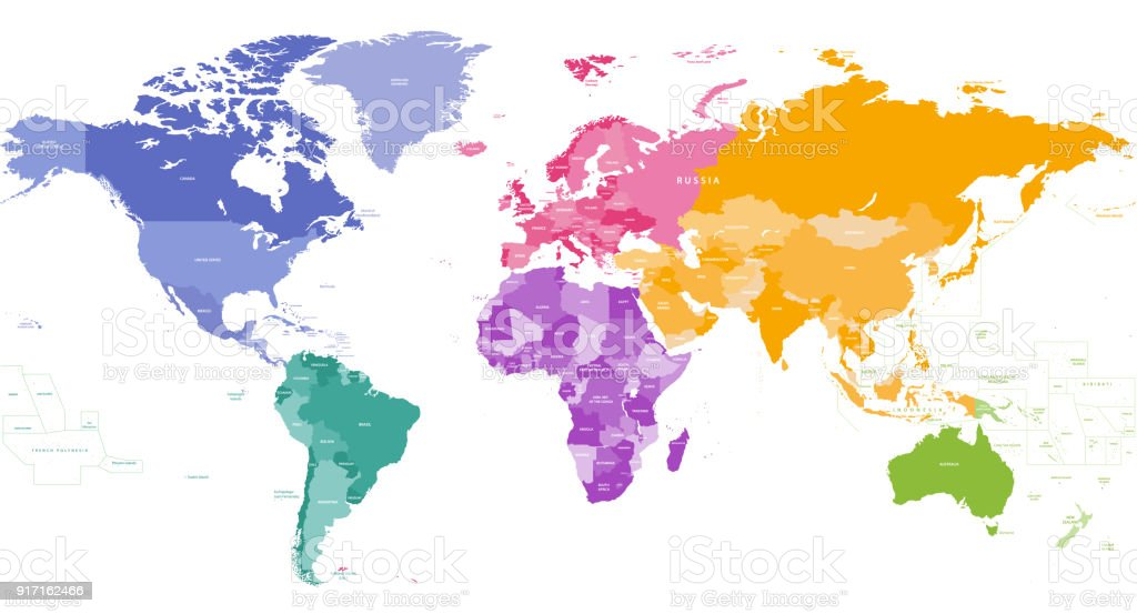 High detailed vector world map with country names and borders stock high detailed vector world map with country names and borders royalty free high detailed vector gumiabroncs Image collections