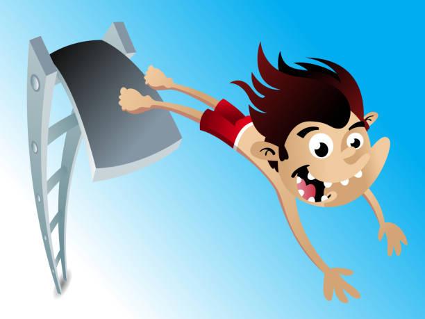 High Dive vector art illustration