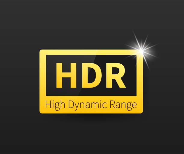 stockillustraties, clipart, cartoons en iconen met high dynamic range imaging, high definition. hdr. vector voorraad illustratie. - hdri landscape