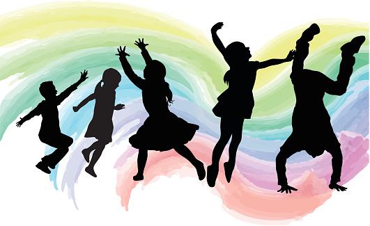 High Energy Kids Watercolor