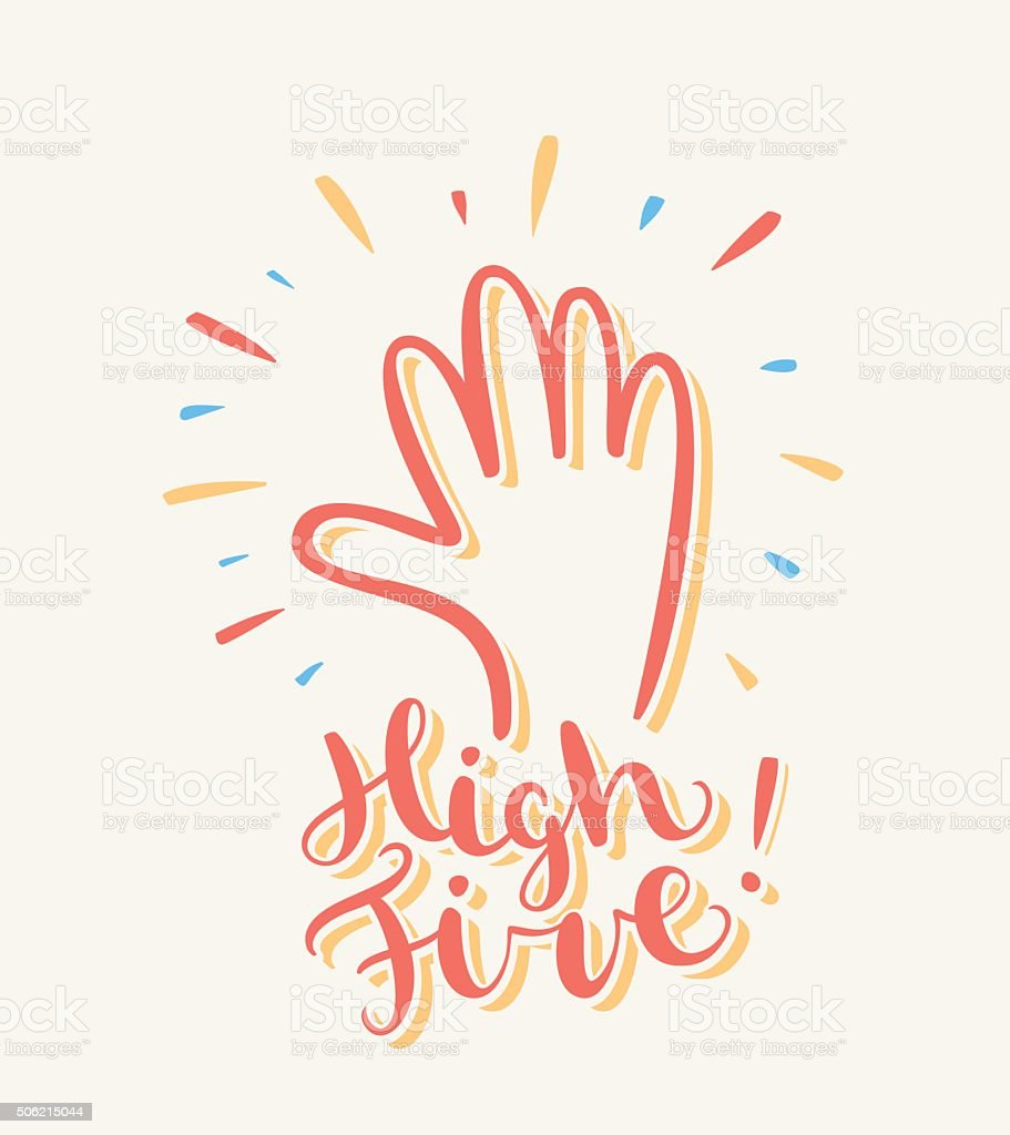 High five greeting card stock vector art more images of high five greeting card royalty free high five greeting card stock vector art m4hsunfo