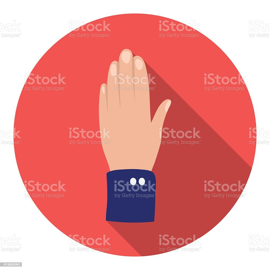 High five icon in flat style isolated on white background. vector art illustration