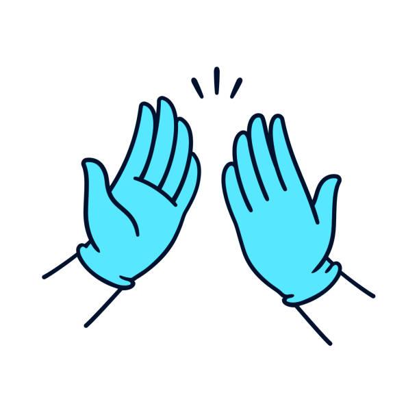 Medical gloves cartoon