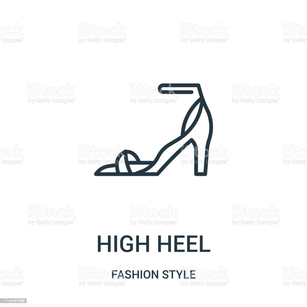 high heel icon vector from fashion style collection. Thin line high...