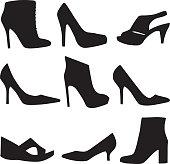 High Heel Shoe Icon Set