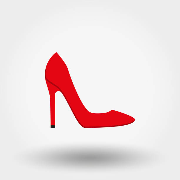 high heel shoes. icon. vector. flat. - wysokie obcasy stock illustrations