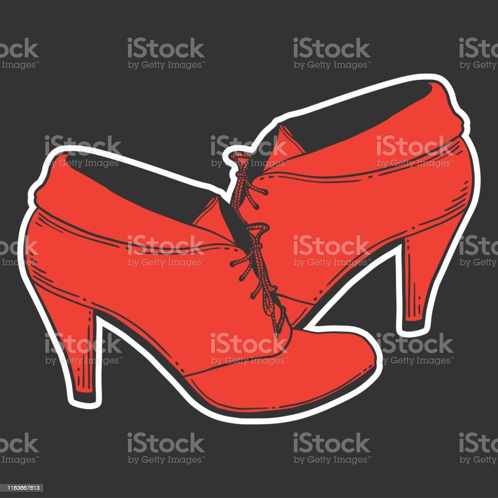 High Heel Schuhe Vektorkonzept Im Doodle Und Skizzenstil