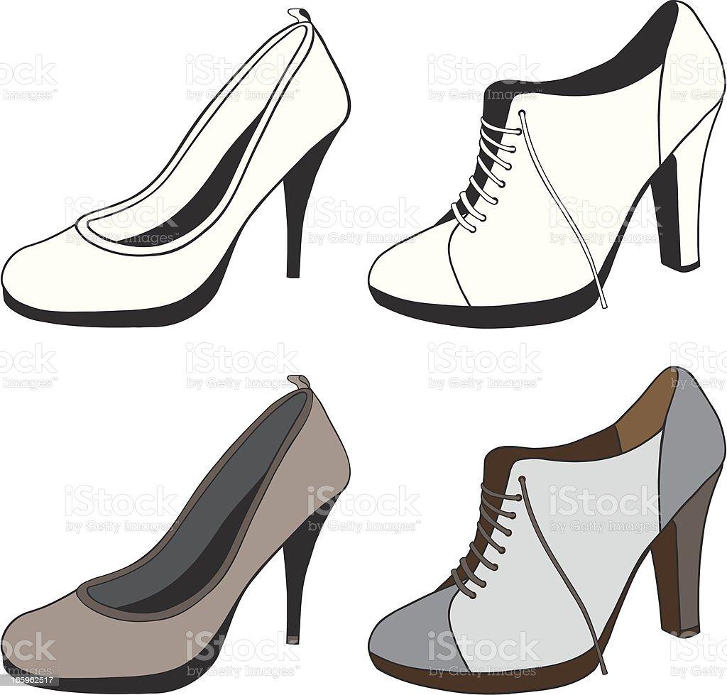 High Heel Shoes royalty-free stock vector art