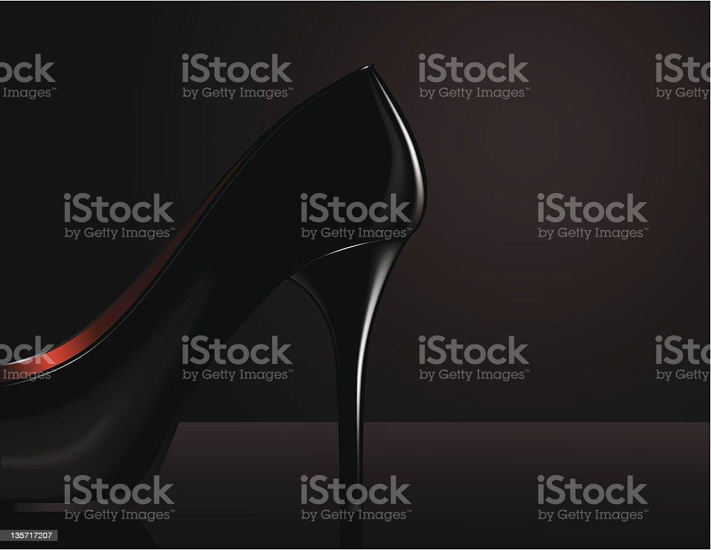 High heel vector art illustration